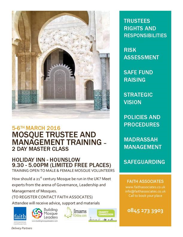Mosque Trustee & Management Training in Hounslow