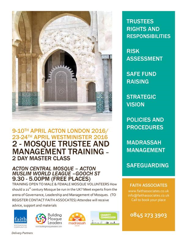 Faith Associates Acton Mosque Management Training