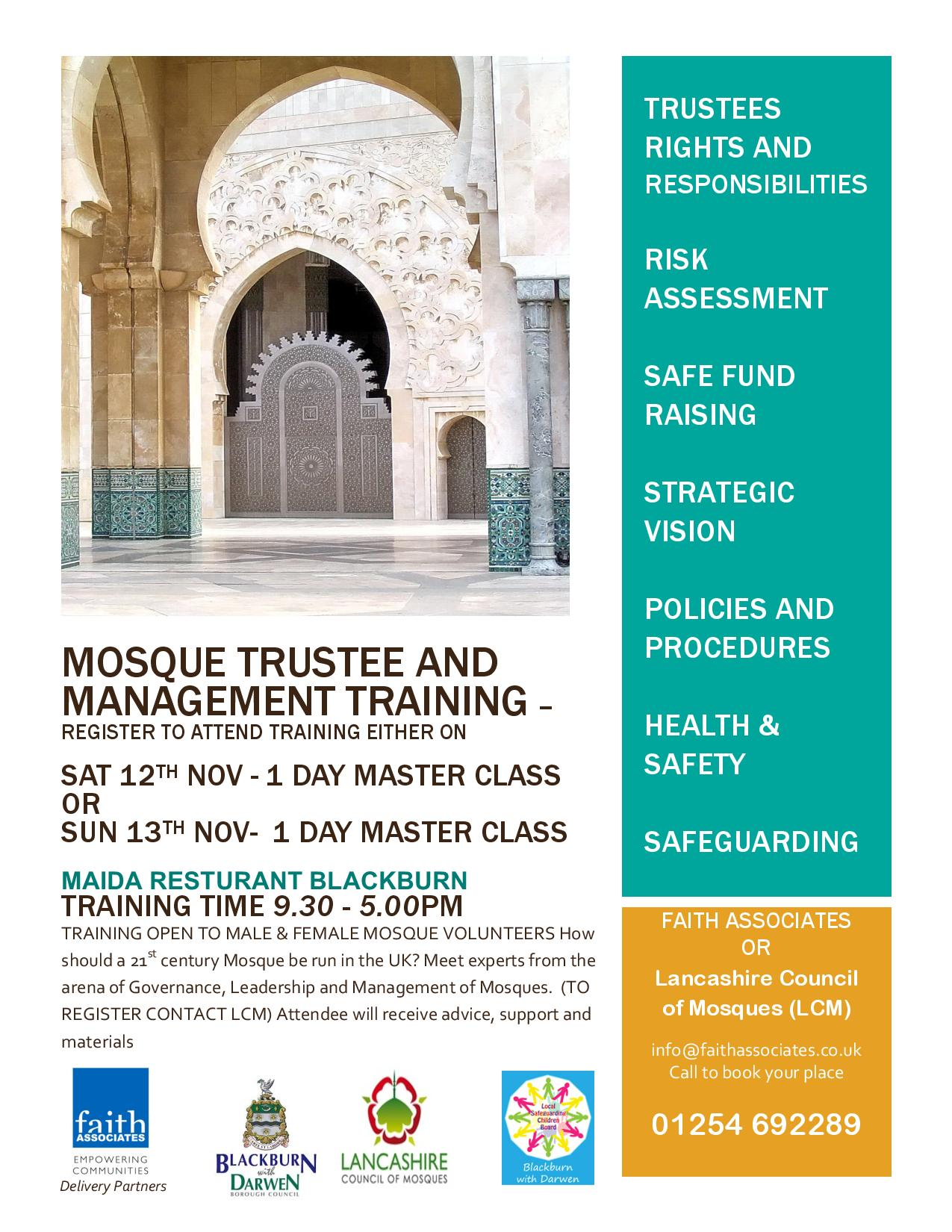 Blackburn Mosque Trustee and Management Training